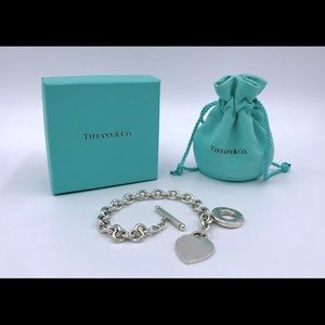 Authentic Tiffany & Co. Heart Tag Toggle Bracelet